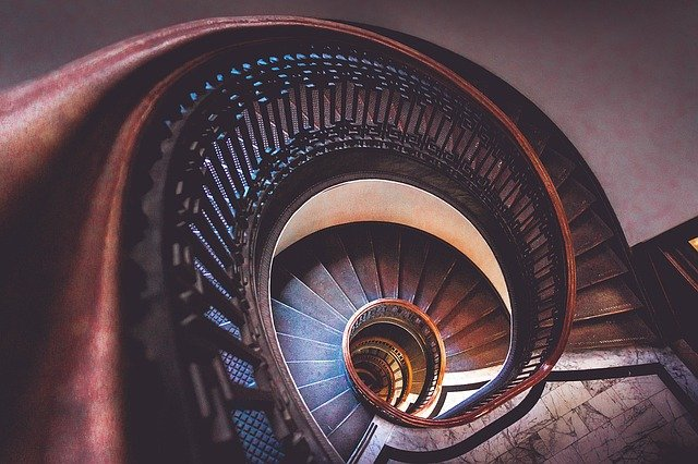 stairs, spiral, staircase